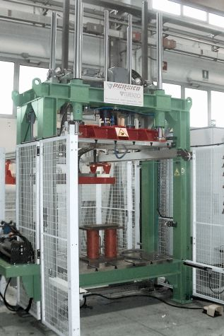 Vertical forming press